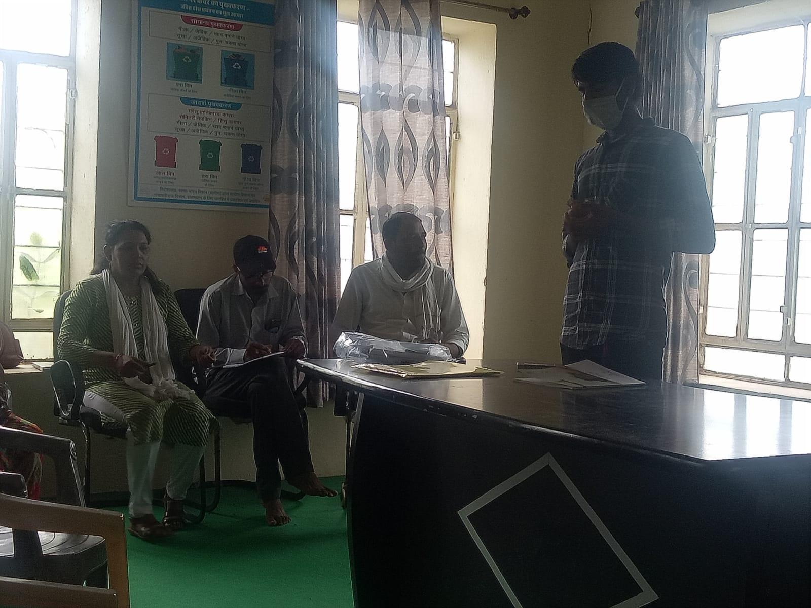 गुड़ावड़ी मे स्वच्छता अभियान के एक दिवसीय प्रशिक्षण शिविर का आयोजन किया