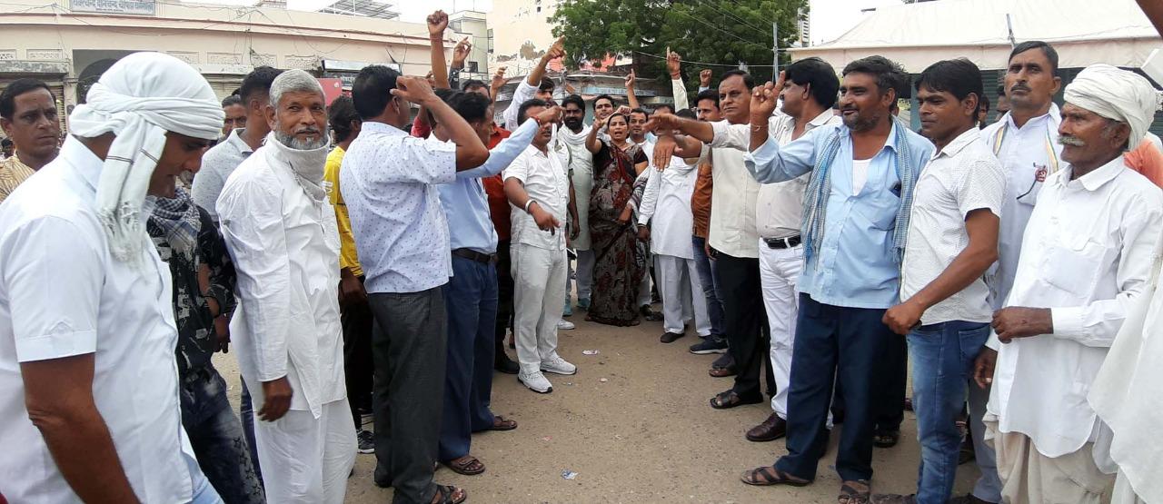 कृषि कानूनों के विरोध में किसानों का सुजानगढ़ बंद सफल